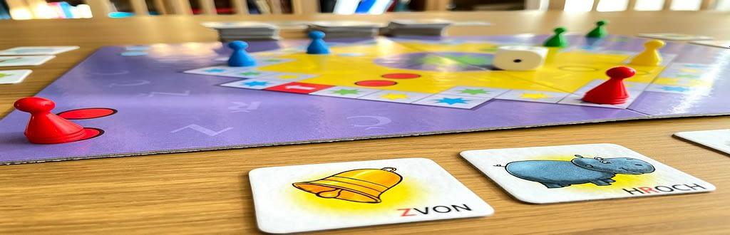Logopedie hrou - velká prča - RECENZE, desková hra s kostkou, figurkami a kartičkami