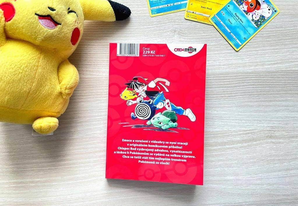 kniha, zadní strana, manga, karty, Pikachu