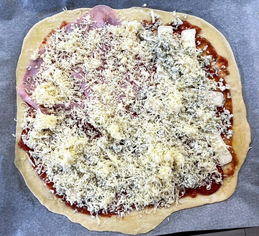 neupečená pizza