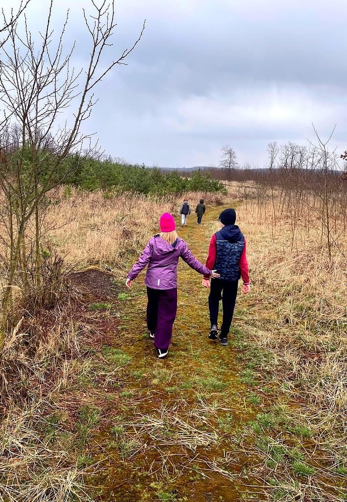 Dobříňský háj, Procházka v dešti lesem není nuda, mechová cesta, děti