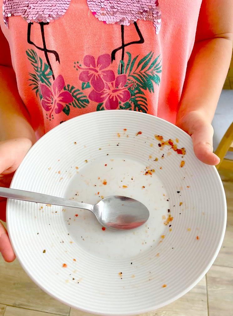 prázdný talíř po jídle