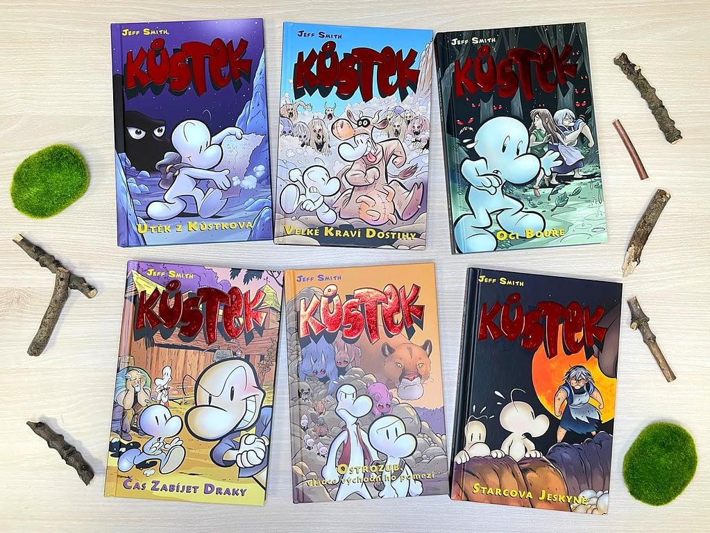 všech šest dílů Kůstka, Recenze - komiks Kůstek - napínavé a vtipné