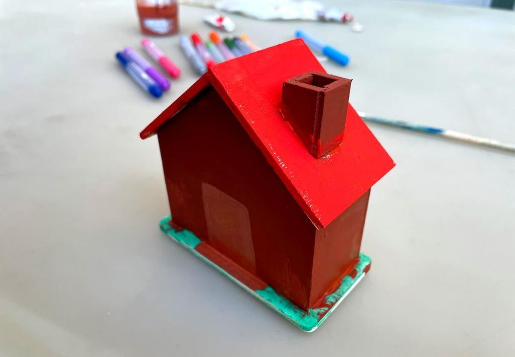 natřený domeček